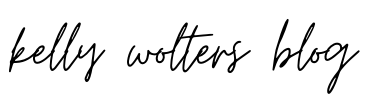 Kelly Wolters Blog